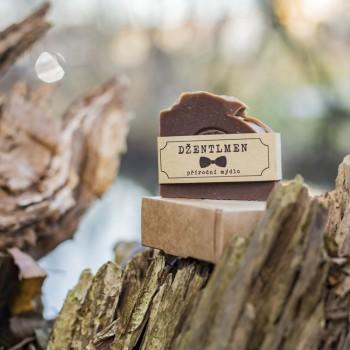 Pánské přírodní mýdlo, dřevo